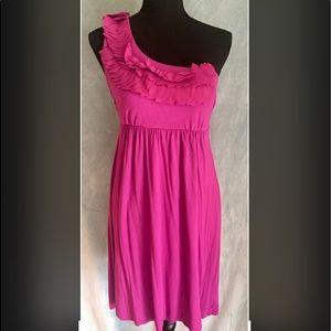 Soma One Shoulder Dress Size M in Magenta